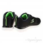 Skechers FlexAdvantage QuickContact Boys Black-Charcoal Trainer