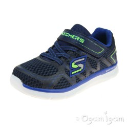 Skechers Skech-Lite Quick Leap Boys Navy-Blue Trainer