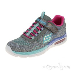 Skechers Air Appeal Crushing Cutie Girls Grey-Multicolour Trainer