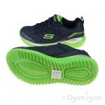Skechers Turboshift Boys Navy-Lime Trainer