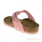 Birkenstock Gizeh Kids Girls Magic Snake Rose Sandal