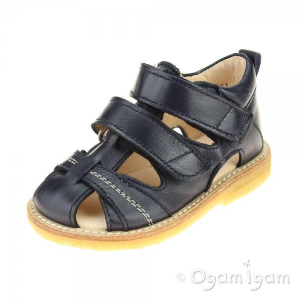 Angulus Closed toe sandal Boys Navy Sandal