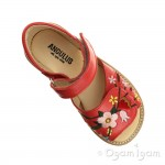 Angulus Embroidered Sandal Girls Red Coral Sandal