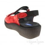 Wolky Jewel Red Circles Womens Sandal