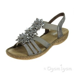 Rieker 6585840 Womens Grey Sandal