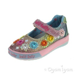 Lelli Kelly Millesoli Junior Girls Multi Glitter Shoe