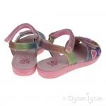 Lelli Kelly Rainbow Hearts Girls Multi Glitter Sandal