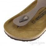 Birkenstock Gizeh Womens Nubuck Mocha Brown Sandal