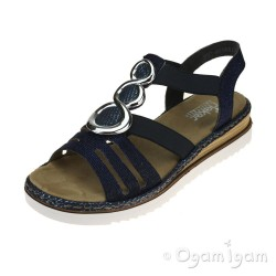 Rieker 679L414 Womens Royal Sandal