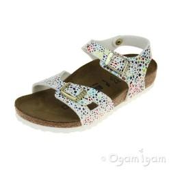 Birkenstock Rio Kids Mosaic Girls Oriental Mosaic white Sandal
