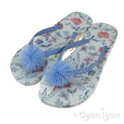 Joules White SeaAir Ditsy FlipFlop Womens White Sandal