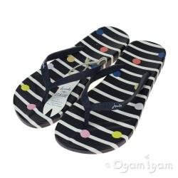 Joules Navy Fun Spot FlipFlop Womens Navy Sandal