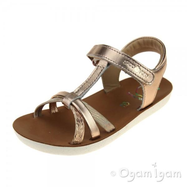 Shoo Pom Goa Salome Girls Rose Gold Sandal