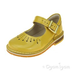 Clarks Yarn Jump Girls Yellow Patent Shoe