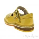 Clarks Yarn Jump Girls Yellow Patent Shoe