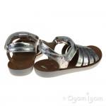 Shoo Pom Goa Spart Girls Silver Sandal