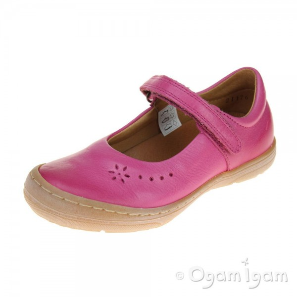 Froddo Girls Pink Fuchsia Mary Jane style Shoe
