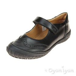 Froddo Girls Black Mary Jane style School Shoe