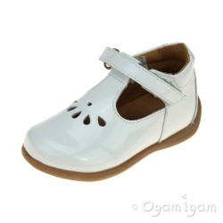 Froddo Infant Girls White Patent Shoe