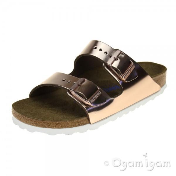 Birkenstock Arizona Womens Metallic Copper Sandal