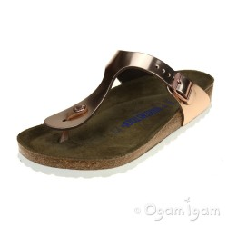 Birkenstock Gizeh Womens Metallic Copper Toe-post Sandal