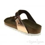 Birkenstock Gizeh Womens Metallic Copper Toe-post Sandal