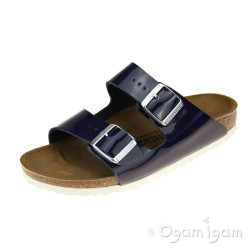Birkenstock Arizona Womens Patent Dress Blue Sandal