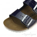 Birkenstock Arizona Womens Patent Dress Blue Sandal