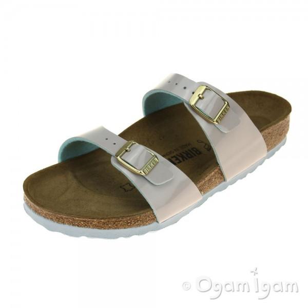 Birkenstock Sydney Womens Patent Light Grey Sandal