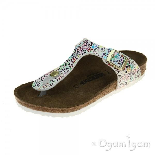 Birkenstock Gizeh Kids Girls Oriental Mosaic white Sandal