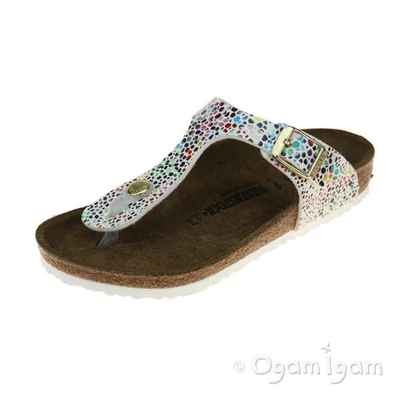 2ba72ac9c37c Birkenstock Gizeh Kids Girls Oriental Mosaic white Sandal