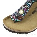 Birkenstock Gizeh Kids Girls Oriental Mosaic Black Sandal