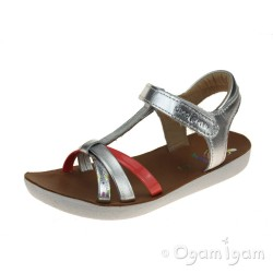 Shoo Pom Goa Salome Girls Silver Multi Sandal