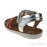 Shoo Pom Goa Salome Girls Silver Multi Sandal