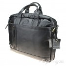 Rowallan Small Twin Handled Briefcase in Black Leather