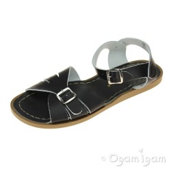 Salt-Water Classic Girls Black Water-friendly Sandal