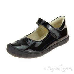 Primigi PTF 24323 Girls Black Patent School Shoe
