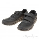 Clarks Venture Walk Boys Black School Shoe