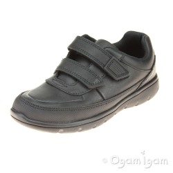 Clarks Venture Walk Junior Boys Black School Shoe