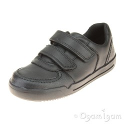 Clarks Mini Racer Boys Black School Shoe