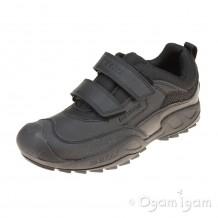 Geox Savage Boys Black Waterproof School Shoe