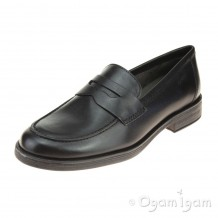 Geox Agata Loafer Girls Black School Shoe