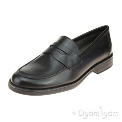 Geox Agata Loafer Girls Black School Shoe