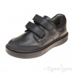 Geox Riddock Boys Black School Shoe