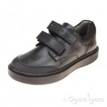 Geox Riddock Boys Black School Shoe