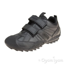 Geox Savage Boys Black Trainer School Shoe