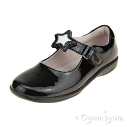 Lelli Kelly Colourissima Girls Black Patent School Shoe