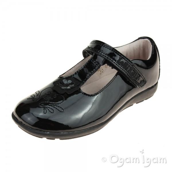 Lelli Kelly Arianna Girls Black Patent School Shoe
