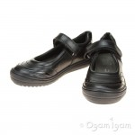Geox Hadriel Girls Black School Shoe