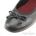Clarks Jesse Shine Girls Black School Shoe